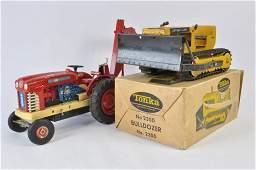 Tonka No. 2300 CAT Bulldozer plus Large Scale Tinplate