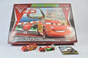 Cars 2 Scalextric Racing Set. Complete.