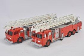 Duo Of Conrad 1/50 Fire Trucks. Nm To M. (2)