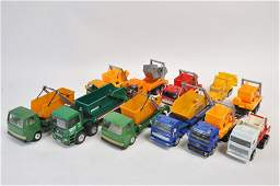 Large Group of Skip Trucks from various makers. Burago