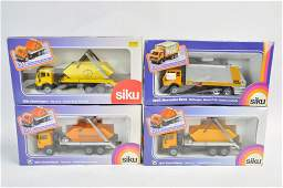 Siku Skip and Refuse Truck Group. M in G Boxes. (4)
