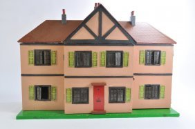 Rare Triangtois Dolls House With Furniture. Vg