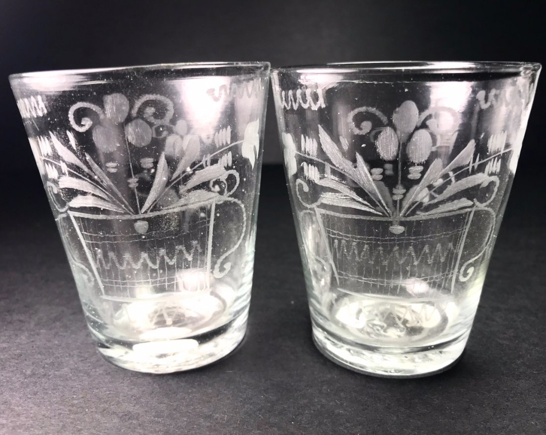 GROUP   OF THREE UNUSUAL ENGRAVED TUMBLERS - 2