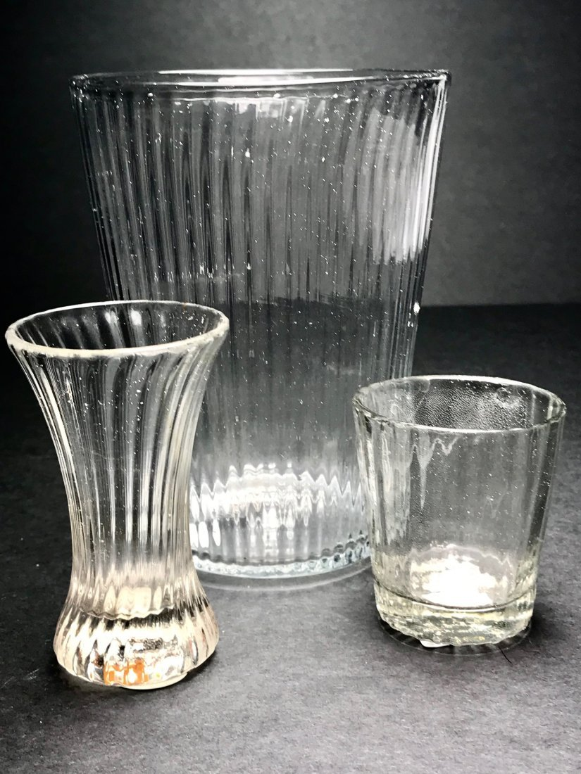 PATTERN MOLDED GLASS LOT - 6