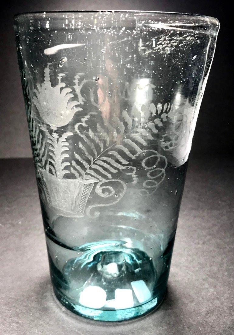 RARE AMERICAN 18TH CENTURY OVERSIZED FLIP GLASS