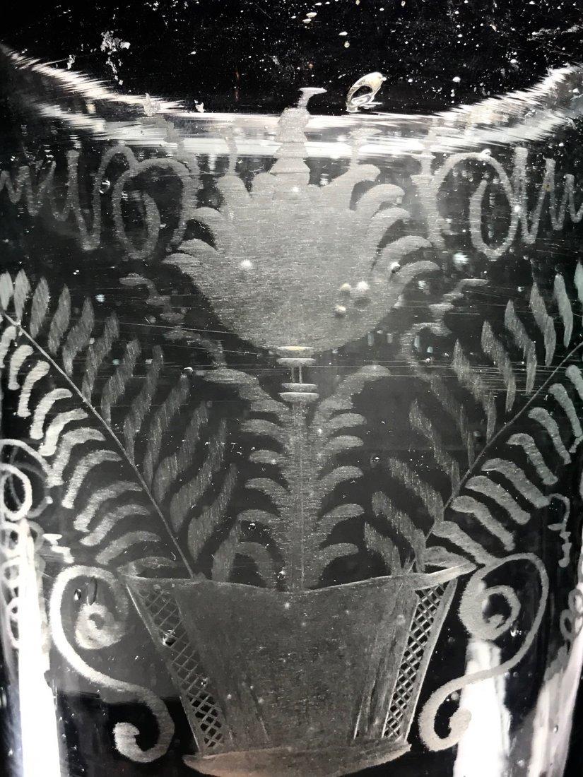 RARE AMERICAN 18TH CENTURY OVERSIZED FLIP GLASS - 3