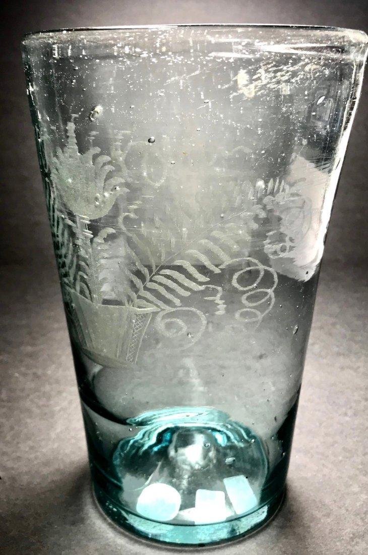 RARE AMERICAN 18TH CENTURY OVERSIZED FLIP GLASS - 4