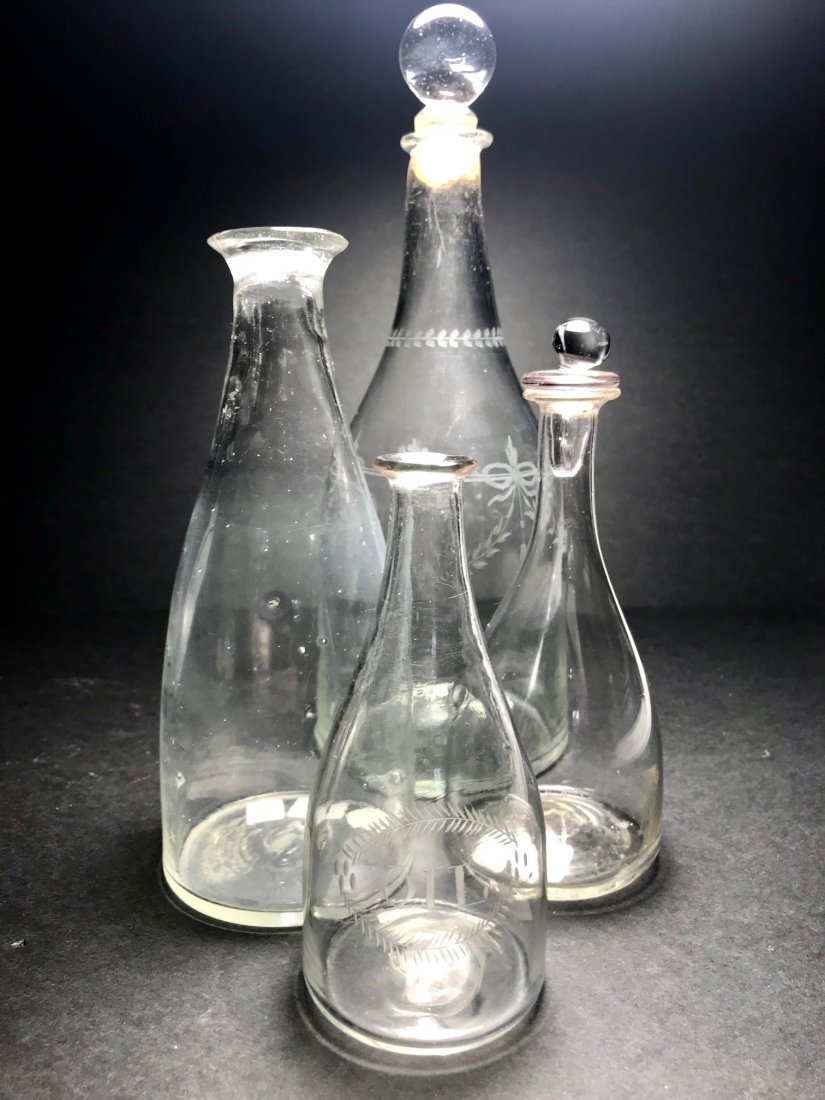 18TH CENTURY CONICAL BOTTLE LOT