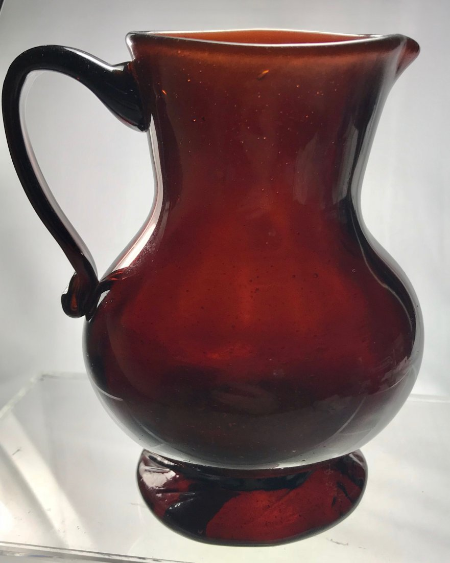 RARE GERMANIC PATTERN MOLDED CREAMER, 18TH C