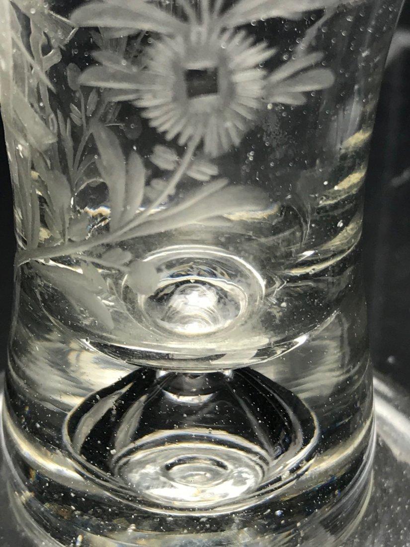 ENGRAVED MASONIC FIRING GLASS: - 3