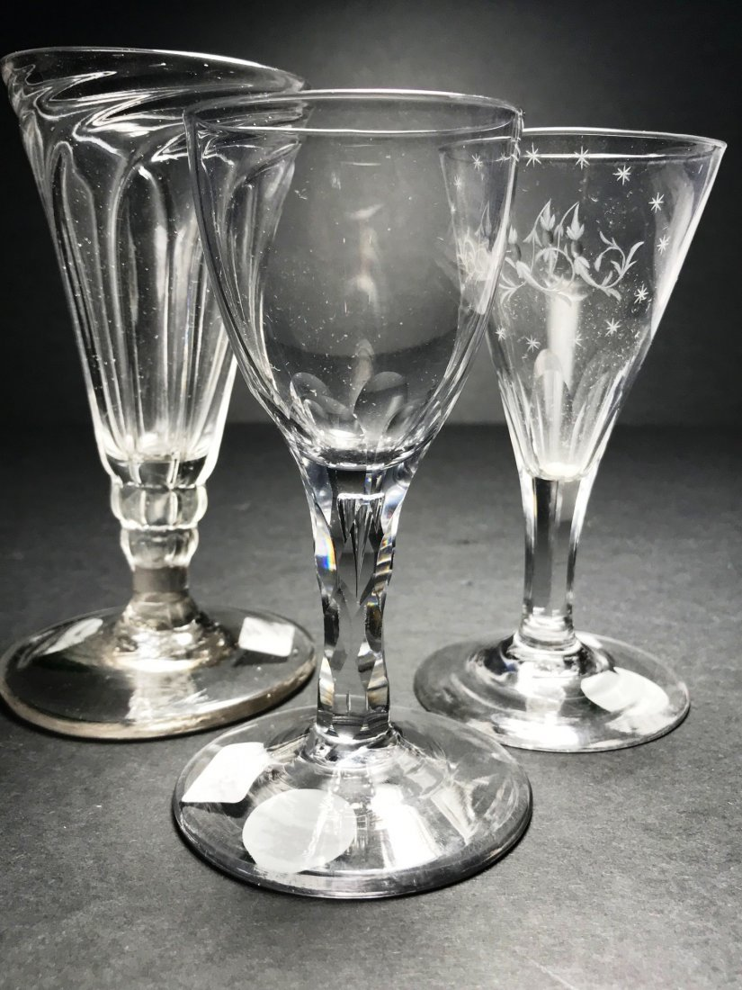 ENGLISH WINE GLASS LOT