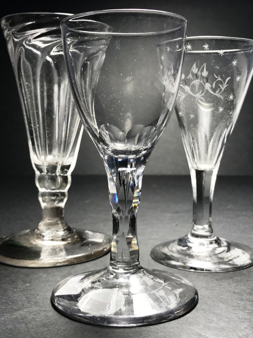 ENGLISH WINE GLASS LOT - 2