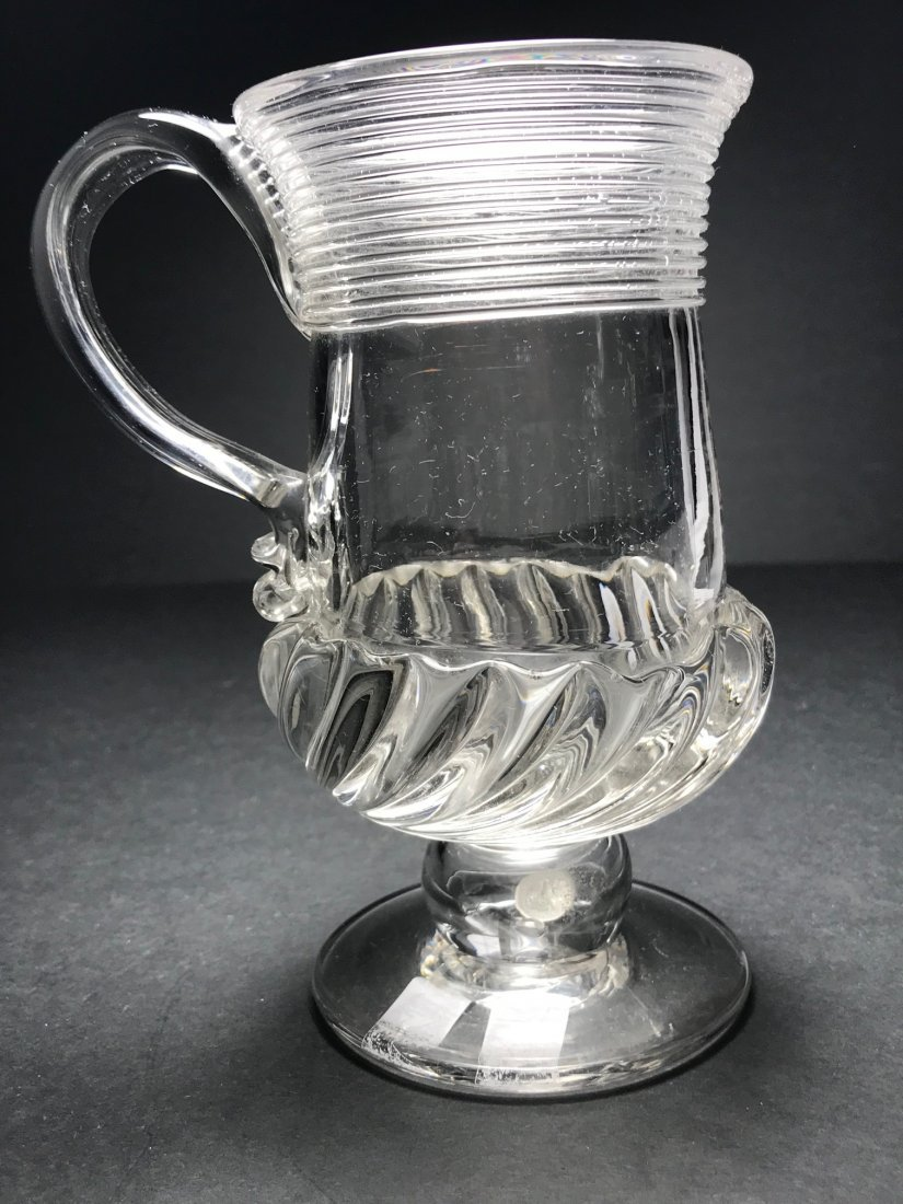 ENGLISH GADROONED MUG WITH SIVER COIN