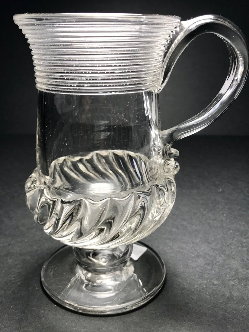 ENGLISH GADROONED MUG WITH SIVER COIN - 5