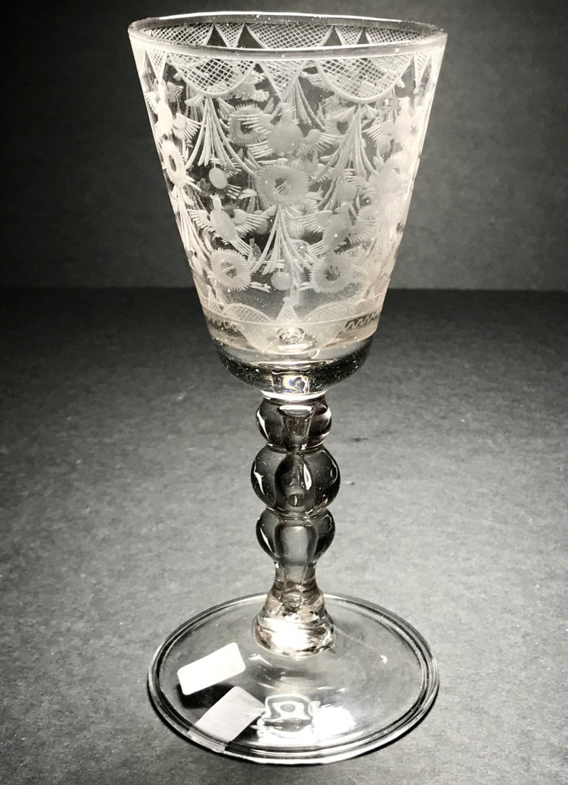 RARE DUTCH ENGRAVED GOBET