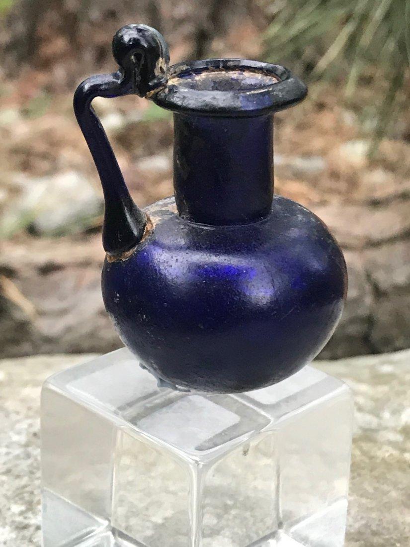 ROMAN BLUE HANDLED JUG - 3