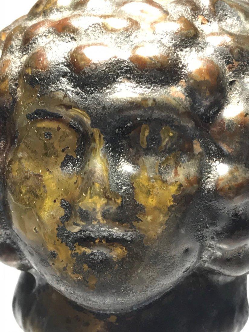 ROMAN FIGURAL HEAD FLASK: 1st / 2nd century - 2