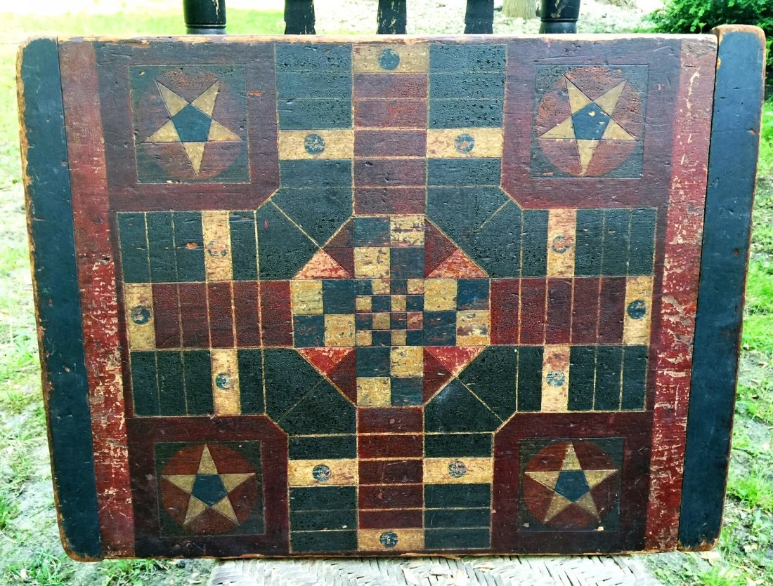 EARLY FOLK ART GAME BOARD