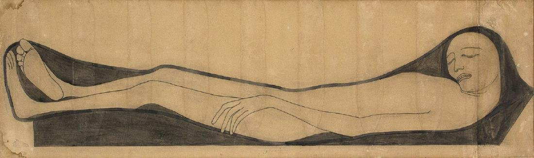 ADOLFOWILDT - Figure lying down, 1913