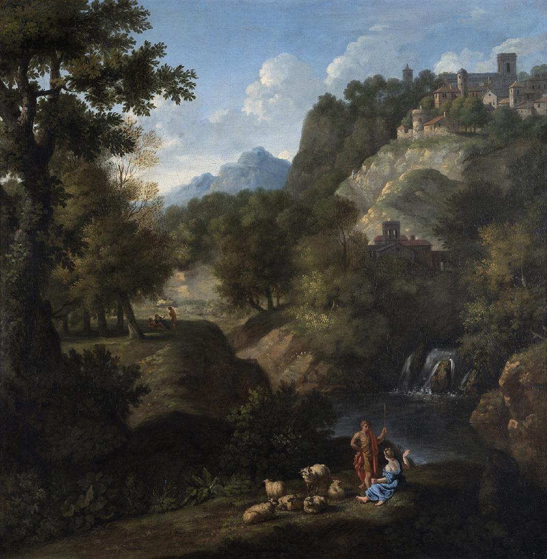 FLEMISH PAINTER - Landscape with a shepherd