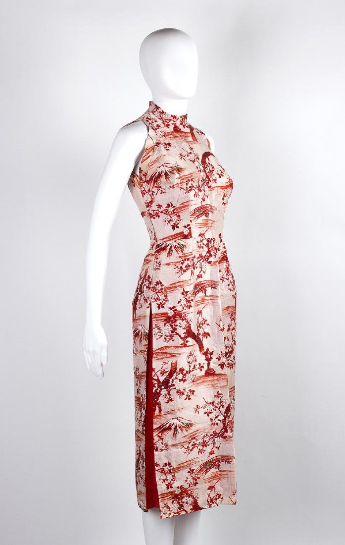 VINTAGE 1950's CHINESE STYLE SILK DRESS