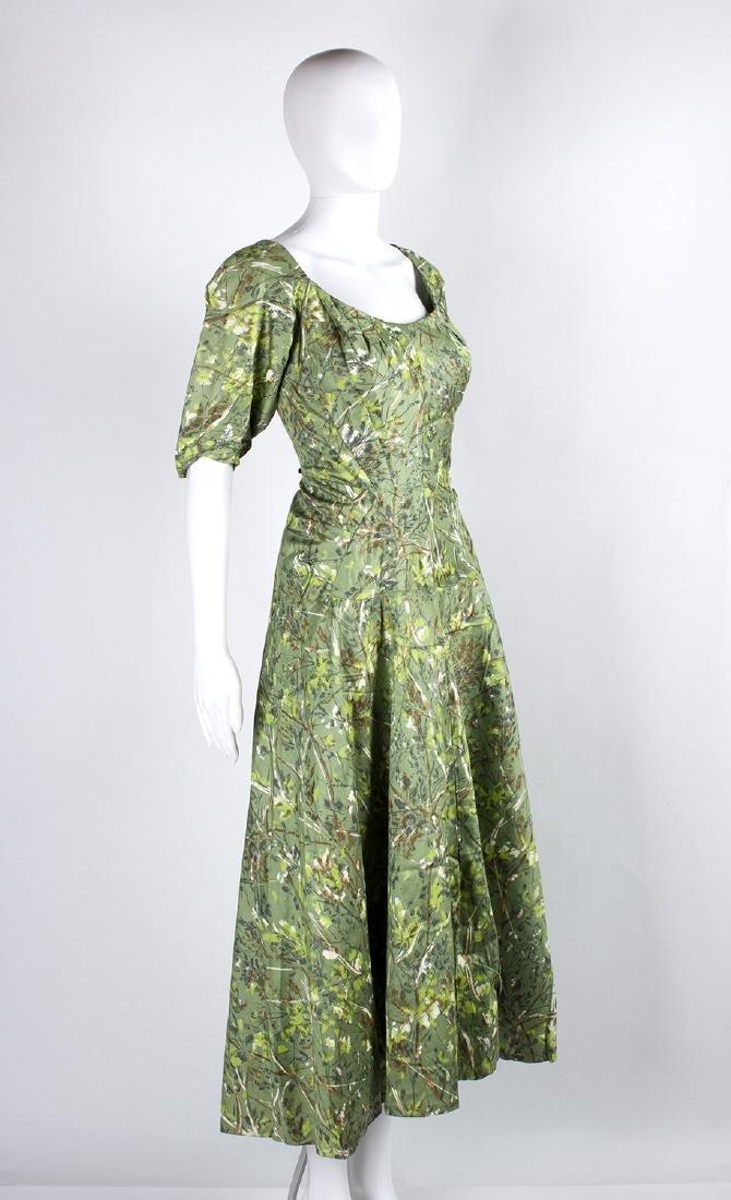 VINTAGE 1950's COCKTAIL GREEN DRESS