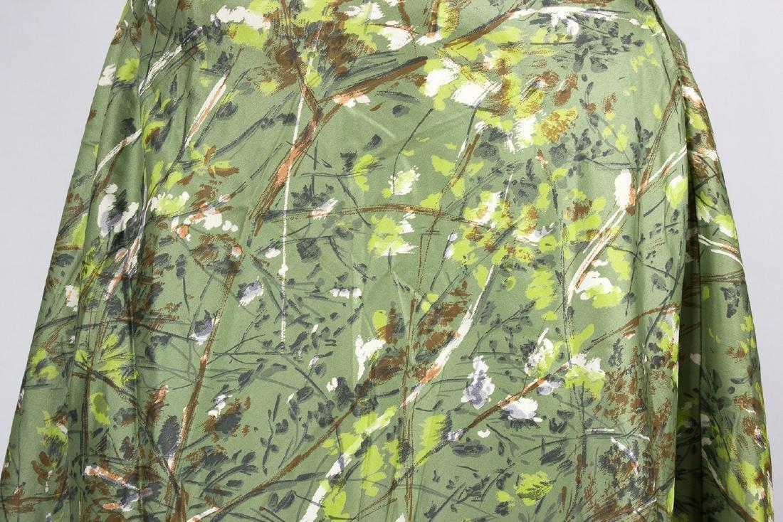 VINTAGE 1950's COCKTAIL GREEN DRESS - 4