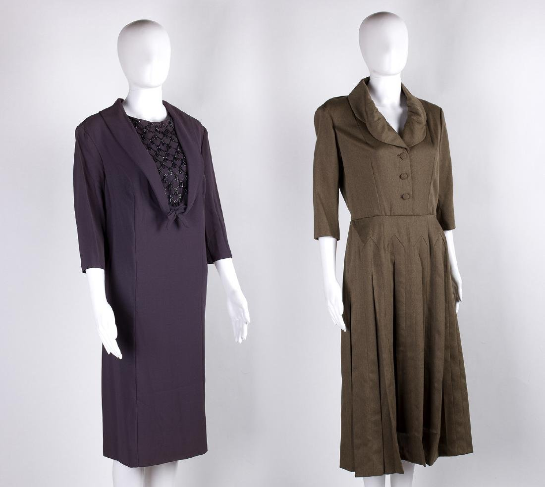 LOT OF TWO LADY'S VINTAGE DRESSES