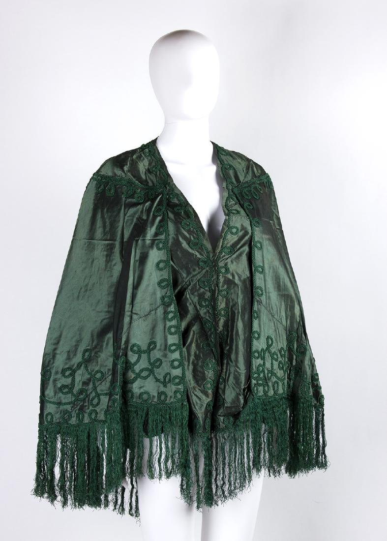 LOT OF VINTAGE 1880S CAPE AND DRESS