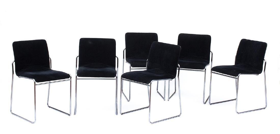 KAZUHIDE TAKAHAMA (attributed to) - Six chairs in steel