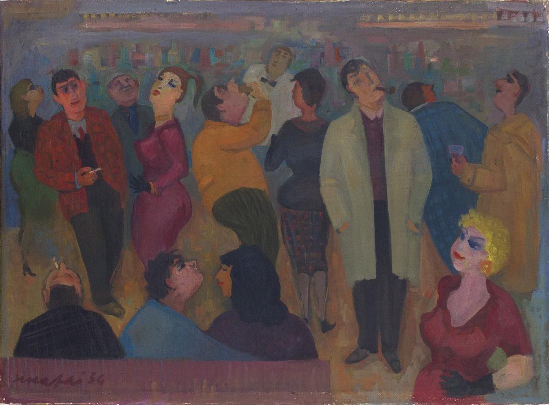 MARIO MAFAI - Il caffè degli intellettuali, 1954