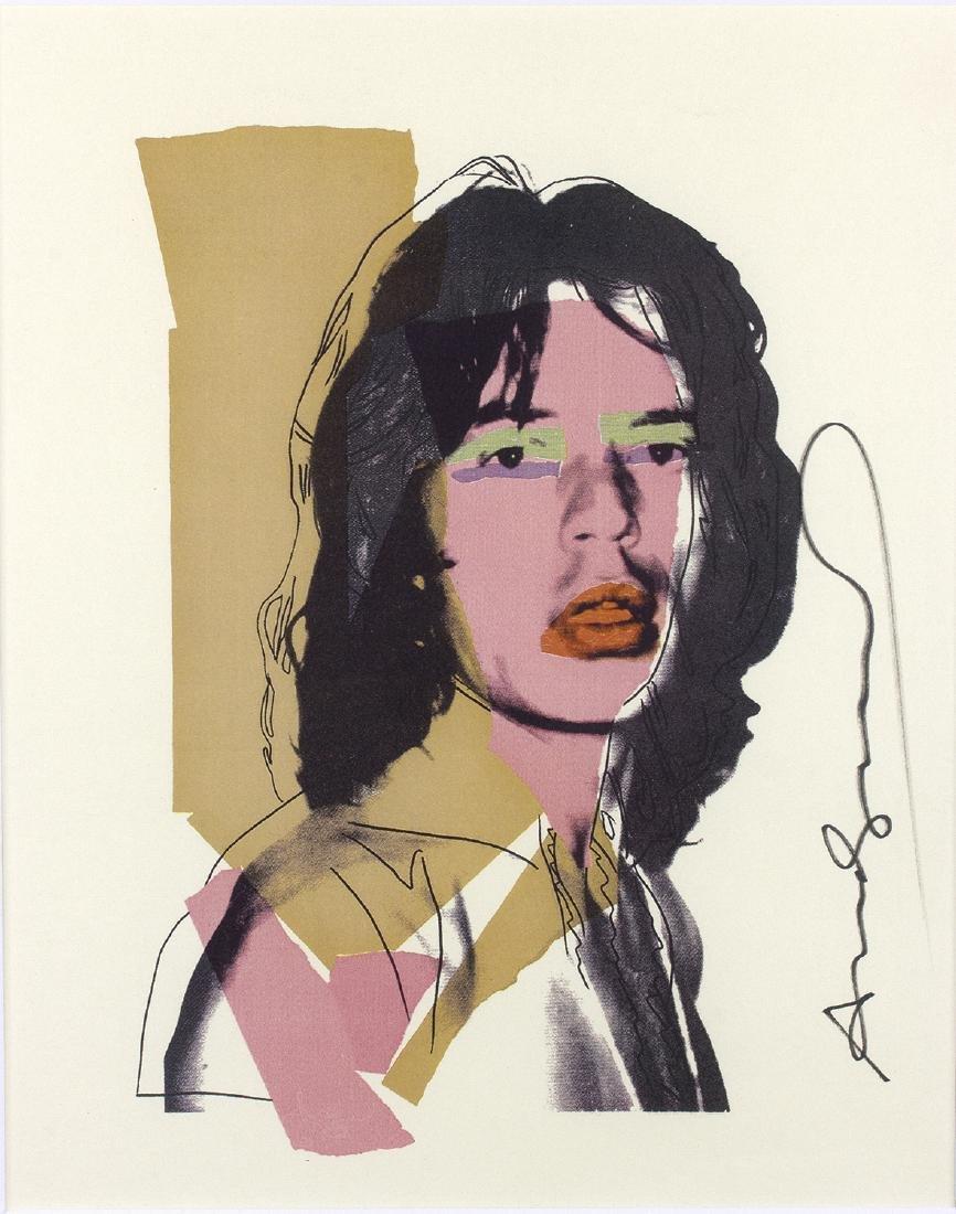 ANDY WARHOL - Mick Jagger By Andy Warhol, 1975