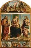 Francesco da Tolentino - Holy Virgin with the saints