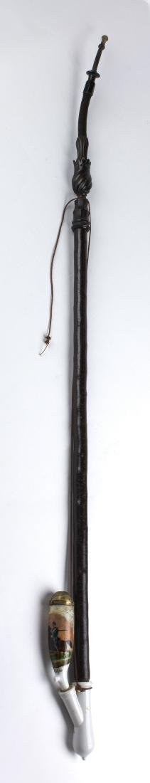 Wooden and ceramic pipe; Germany, 19-20 th Century