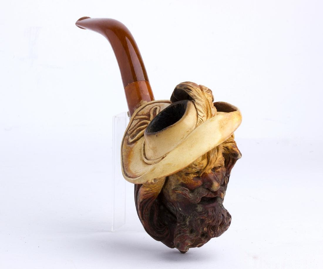 Meerschaum pipe; England, late 19th early 20th Century