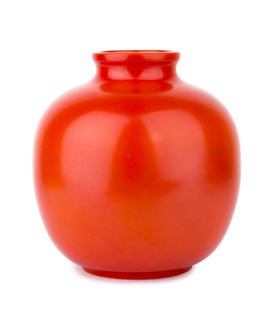 Vase in red monochrome ceramic, 1941