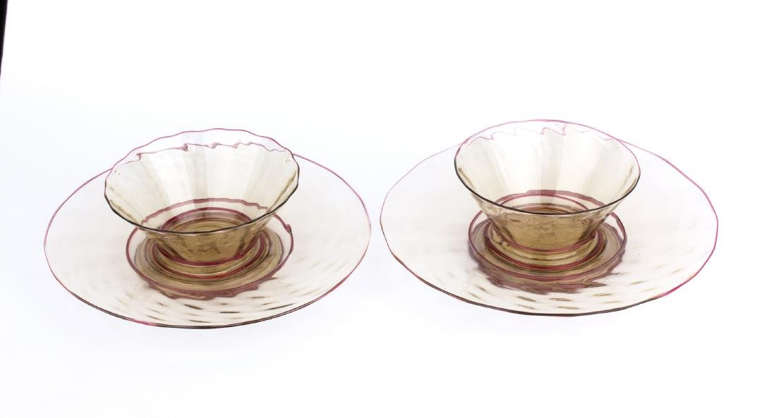 Pair of cups with saucers, 20's - 2