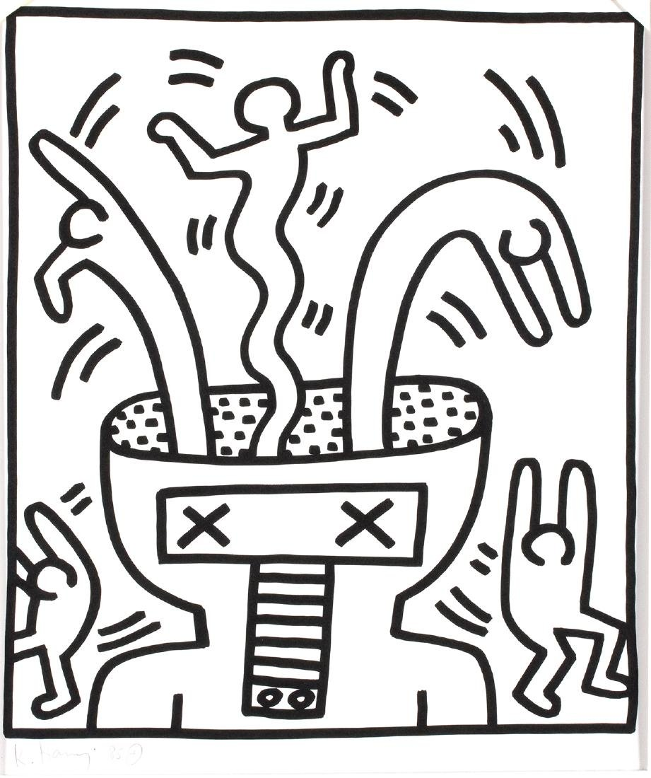 """Artist's Book: """"Keith Haring - Lucio Amelio"""", 1983"""
