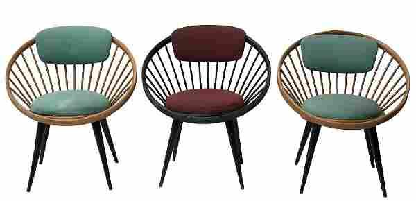 YNGVE EKSTRÖM - Three small armchairs, one pair in