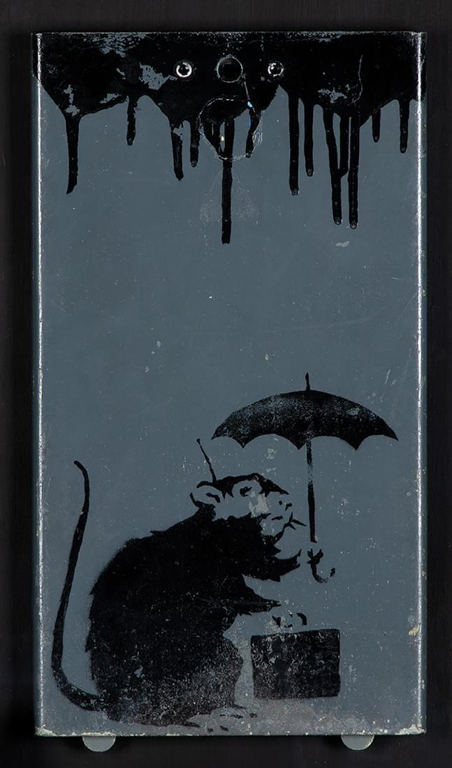 BANKSY  - Umbrella Rat, 2003-05