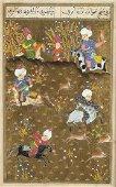 THREE MINIATURE PAINTINGS Persia, 19th-20th century  26