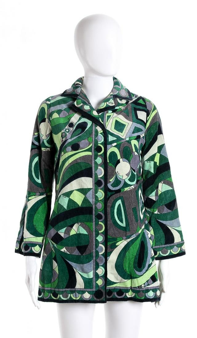 EMILIO PUCCI COTTON SPONGE JACKET Late 60s