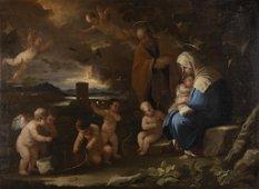 LUCA GIORDANO (Naples, 1634 - 1705) - Rest on the