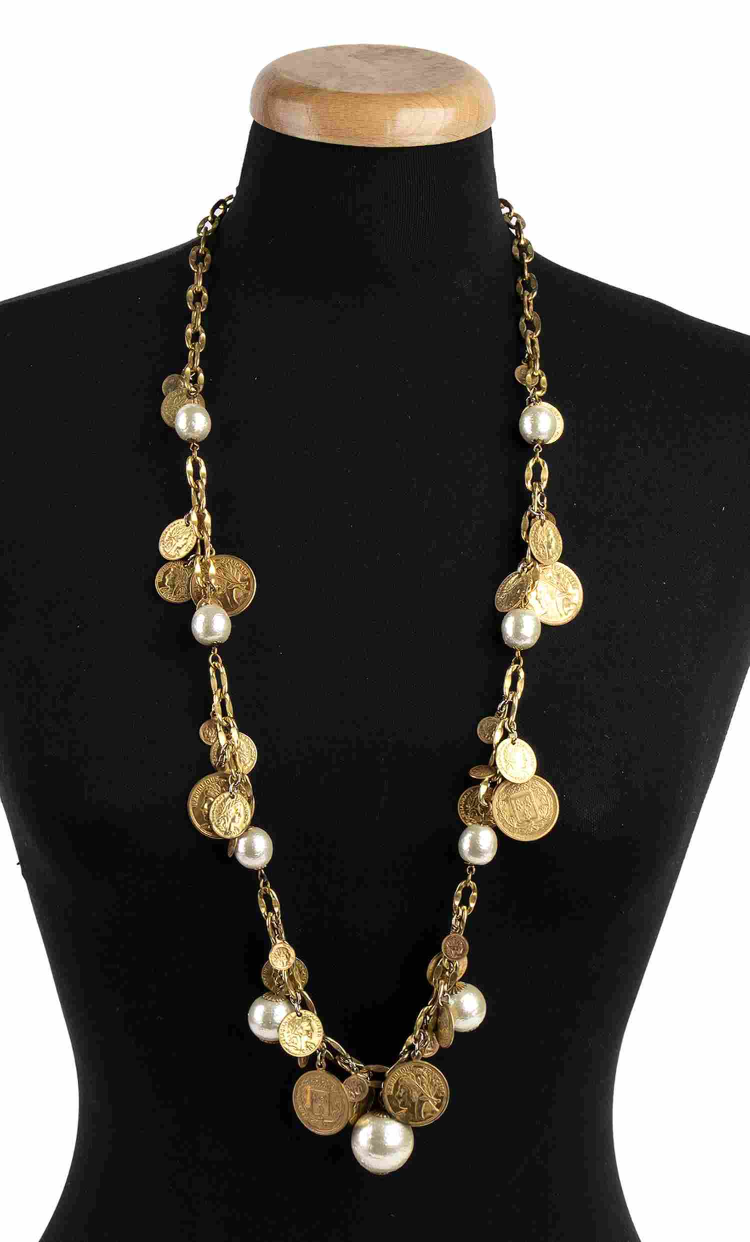 MIRIAM HASKELL  GILDED METAL NECKLACE Late 50s