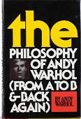 ANDY WARHOL  Book by Andy Warhol  The philosophy of