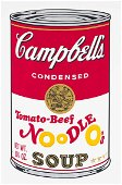 ANDY WARHOL - Campbell's Condensed Tomato Beef Noodle