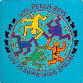 """KEITH HARING - Cover of the album """"Live is Something"""