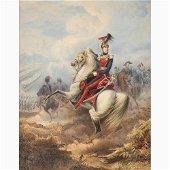 EMANUELE GIN 1817 - ? - Portrait of Ferdinand II on