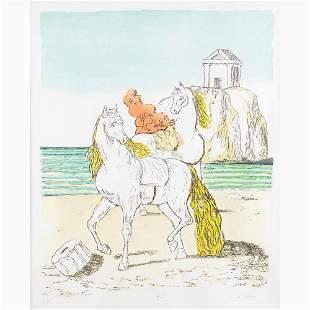 GIORGIO DE CHIRICO Volo, 1888 - Rome, 1978 - Horses