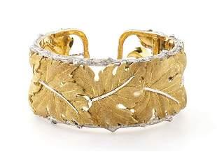 "Bangle gold bracelet - manifacture  ""MARIO BUCCELLATI"""